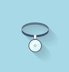 Flat web internet icon Medical head mirror vector image