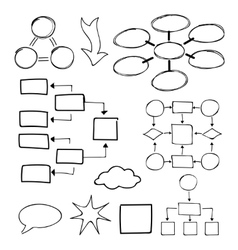 Flowcharts set Felt-tip pen and marker vector image