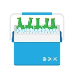 Freezer-bag in blue color vector