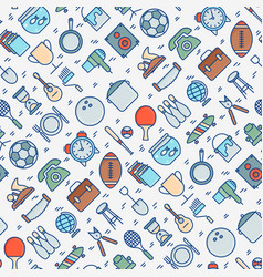 Garage sale or flea market seamless pattern vector