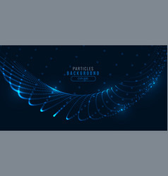 Glowing digital blue technology particle wave vector