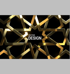 golden arabic pattern 3d vector image