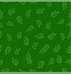 Green leaf seamless texture vector