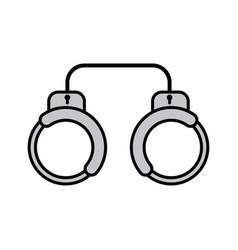 handcuffs flat icon sign symbol vector image