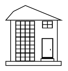 High house icon outline style vector image