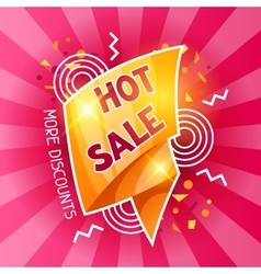 Hot sale banner Advertising flyer for commerce vector