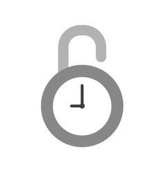 icon concept of opened clock padlock vector image
