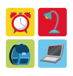 Icon set back to school vector