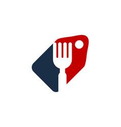 label food logo icon design vector image