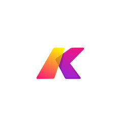 letter k colors logo template concept vector image