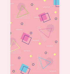 memphis 80s 90s style abstract trendy style vector image