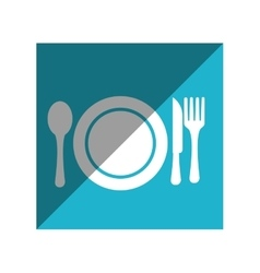 Menu restaurant isolated icon vector