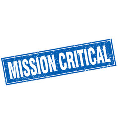 Mission critical square stamp vector