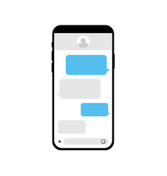 Mobile phone with chat messenger concept vector