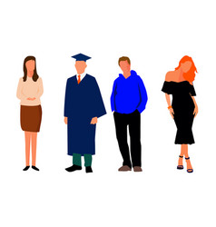 Model of women and man student vector
