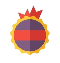 modern flat design badge icon vector image