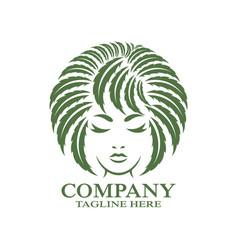 modern woman cannabis logo vector image