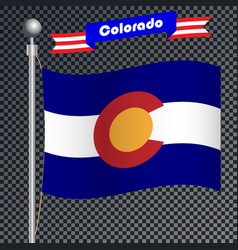 National flag of colorado vector
