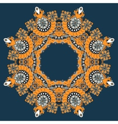Ornamental lace pattern Circle vector image