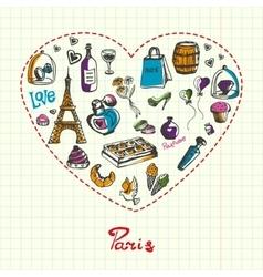 Paris Pen Drawn Doodles Collection vector