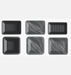 plastic food tray styrofoam container frozen food vector image
