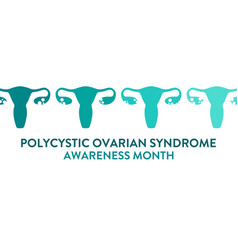 polycystic ovarian syndrome awareness month vector image