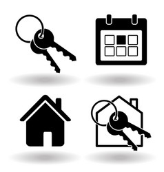 real estate or house rental booking solid flat vector image