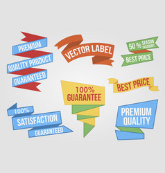 ribbons and banners set vector image