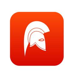 roman helmet icon digital red vector image