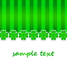 Saint patrick day background with green clovers vector