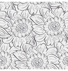 seamless texture hydrangea flowers black vector image