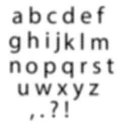 Set of Black Halftone Letters vector image