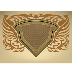 shield pattern vector image