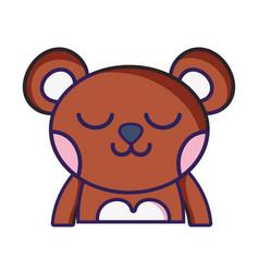 Sleeping bear adorable wild animal vector
