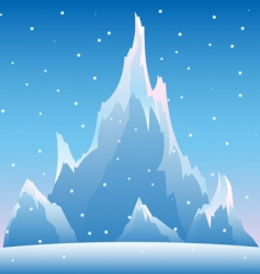 snow mountain vector illustration vector image