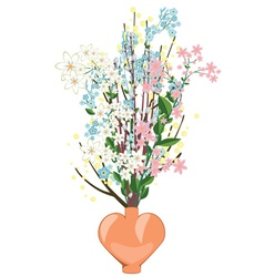 Spring Flowers in a Vase vector