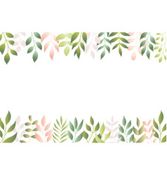 Spring leaves in flat style vector