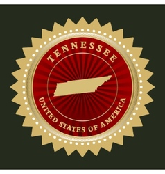 Star label Tennessee vector