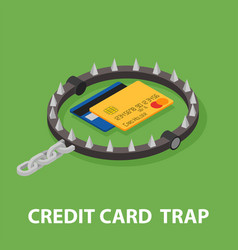 The trap of credit card with their high interest vector