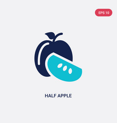 two color half apple icon from ecology concept vector image