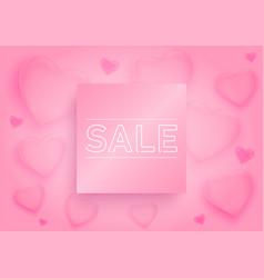 valentine day sale banner or poster background vector image