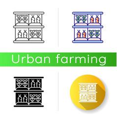 Vertical farm icon vector