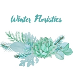 Watercolor Floristic Composition vector image