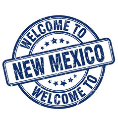 Welcome to new mexico blue round vintage stamp vector