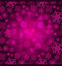 winter seamless christmas purple pattern vector image