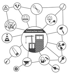 Basic Construction Icons vector image