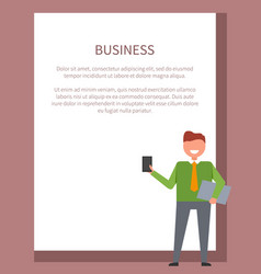 business man icon and text vector image vector image