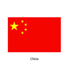 china flag official colors and proportion vector image