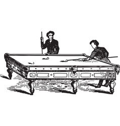 Playing Pool vector image vector image