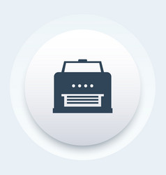 printer icon on round shape vector image